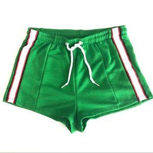 Topshop Sport Striped Runner Shorts